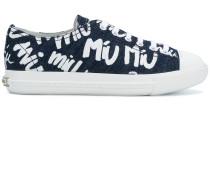 printed denim sneakers