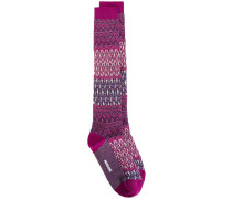 geometric pattern socks
