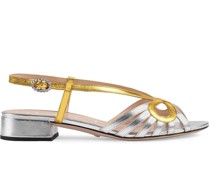 Sandalen im Metallic-Look