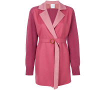 fitted belted cardi-coat
