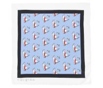 swan print necktie