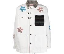 Hemdjacke mit Blumenapplikation