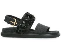 'Fussbett' Sandalen mit Glassteinen