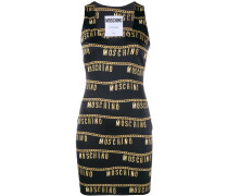 logo chain print dress