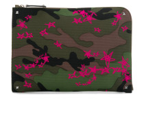 rockstud zipped laptop pouch