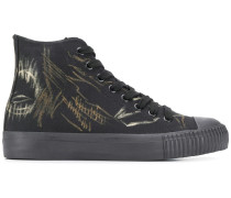 High-Top-Sneakers mit grafischem Print