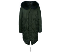 padded parka with fur trimmed hood