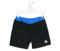 Badeshorts mit Logo-Patch - kids - Polyamid