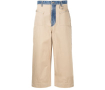 Weite Jeans-Culottes