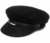 focused metal plaque baker hat
