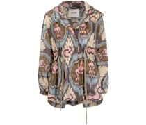 Leichte Jacke mit abstraktem Print
