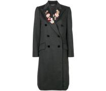 floral lapel coat