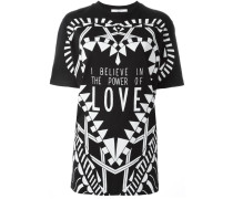 "T-Shirt mit ""I Believe in the Power of Love""-Print"