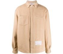 embroidered logo shirt jacket