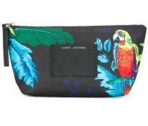 'B.Y.O.T parrot' printed make-up bag