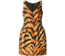 tiger print fitted dress