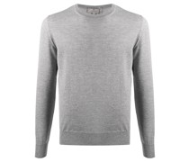 round neck long-sleeved jumper