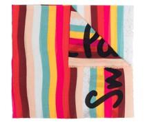 Gestreifter Schal mit Logo-Print
