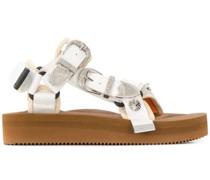 Sandalen mit gravierten Schnallen