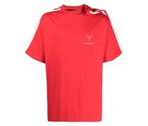 T-Shirt mit drapierter Schulter