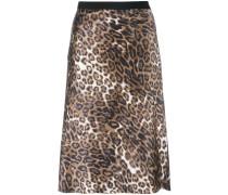 Seidenrock mit Leopardenmuster