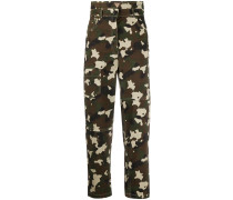 Cropped-Hose mit Camouflage-Print