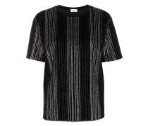 Gestreiftes T-Shirt mit Metallic-Effekt