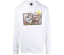 graphic-print logo hoodie
