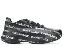 "Sneakers mit ""Warszawa""-Print"