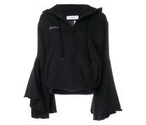 bell sleeves zipped hoodie