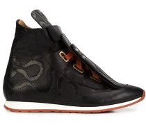 High-Top-Sneakers mit Overlay