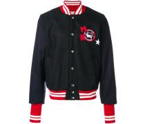 College-Jacke mit Logo-Patch