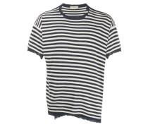Gestreiftes T-Shirt in Distressed-Optik