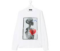 skeleton print top