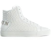 High-Top-Sneakers mit spitzen Nieten