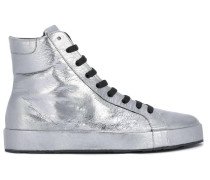 High-Top-Sneakers mit Metallic-Effekt