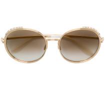 crystal embellished round sunglasses