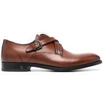 Monk-Schuhe mit überkreuzten Riemen