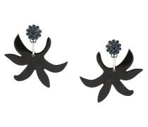 Ohrclips mit abstraktem Blumen-Anhänger
