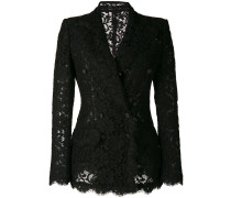 double breasted lace blazer