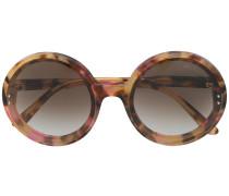 round frame tortoiseshell sunglasses