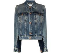 Jeansjacke mit Schlitzen