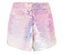 - ombré sequinned shorts - women - Polyester - 34