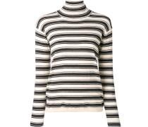 striped turtleneck jumper