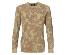 camouflage print henley T-shirt