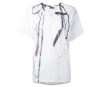 T-Shirt mit Trompe-l'œil-Print - women
