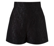 high-waist lace shorts