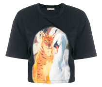 T-Shirt mit Animal-Print