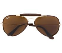 Sonnenbrille mit Lederborten