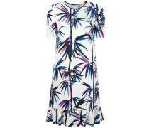 Seidenkleid mit tropischem Print